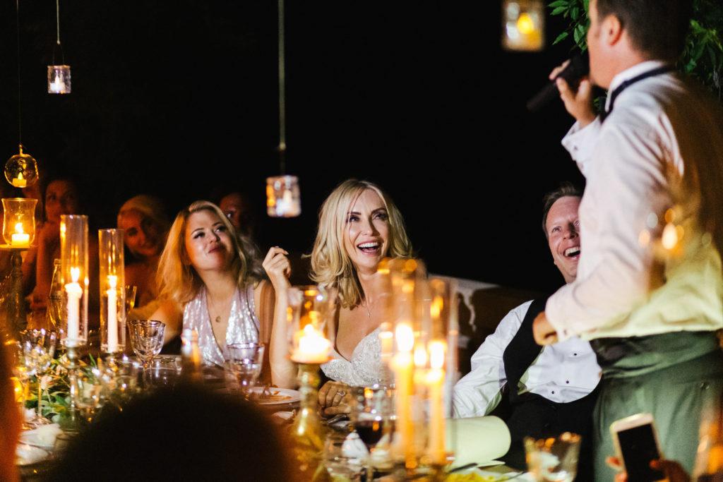 Speech - Italian Wedding Designer - Wedding at Villa Le Fontanelle
