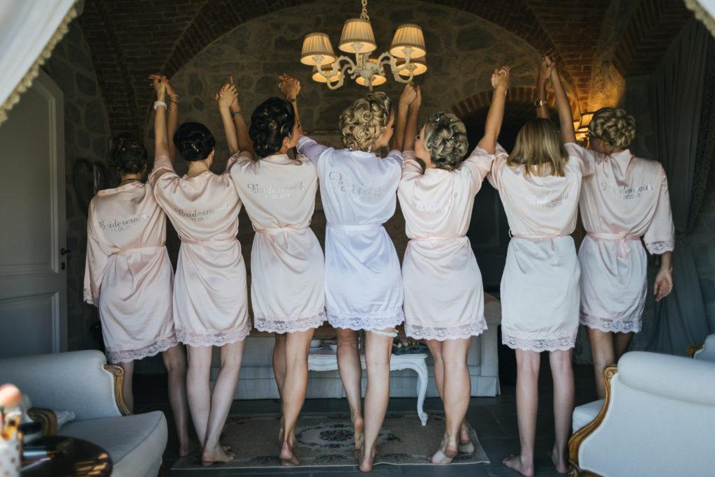 Bride & Bridesmaids - Wedding at Villa Le Fontanelle - Italian Wedding Designer