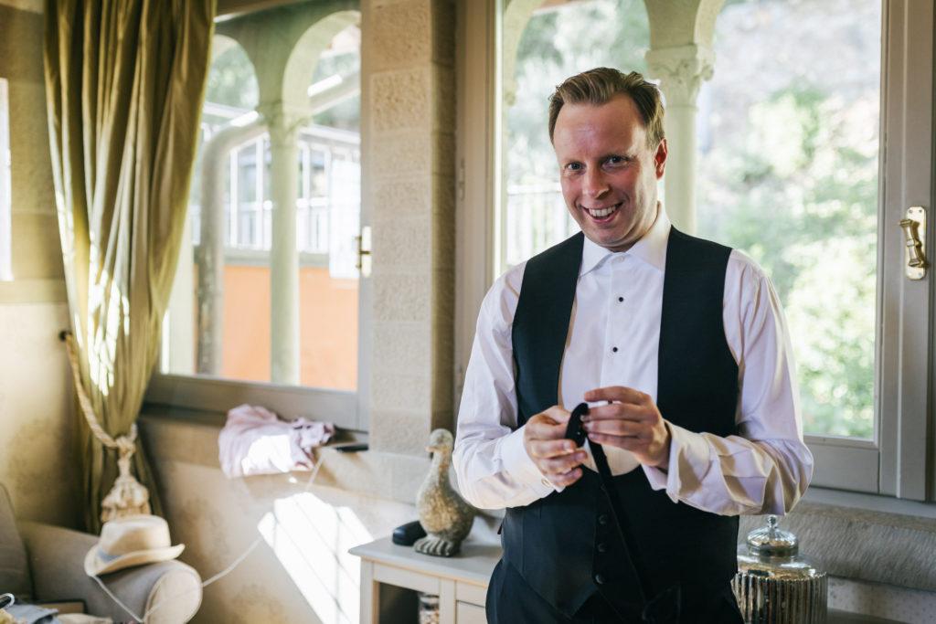 Groom - Wedding at Villa Le Fontanelle - Italian Wedding Designer