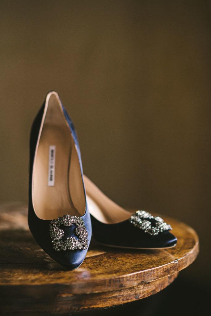 Manolo Blahnik shoes - Wedding at Villa La Selva - Italian Wedding Designer