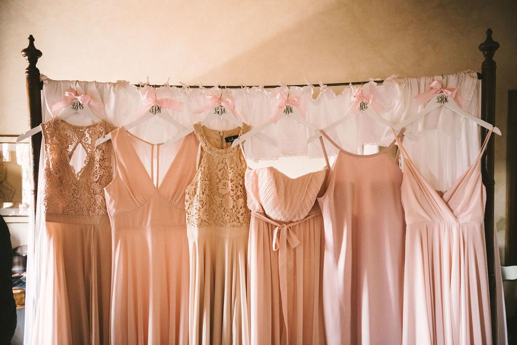 Bridesmaids dresses Manolo Blahnik shoes - Wedding at Villa La Selva - Italian Wedding Designer