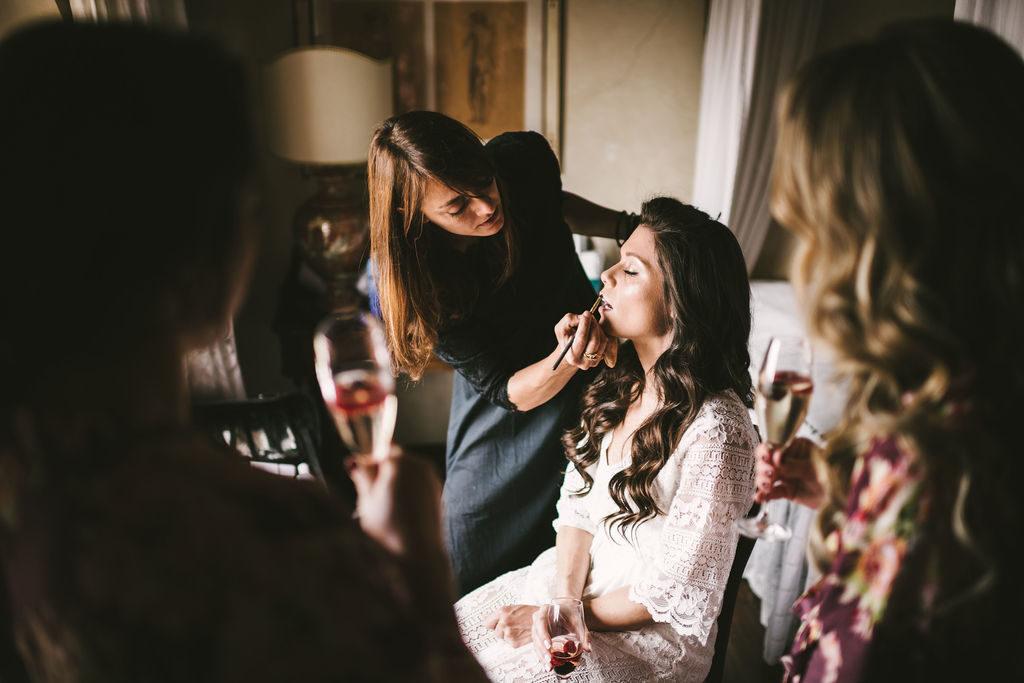 Giulia Cresci make up artist - Manolo Blahnik shoes - Wedding at Villa La Selva - Italian Wedding Designer