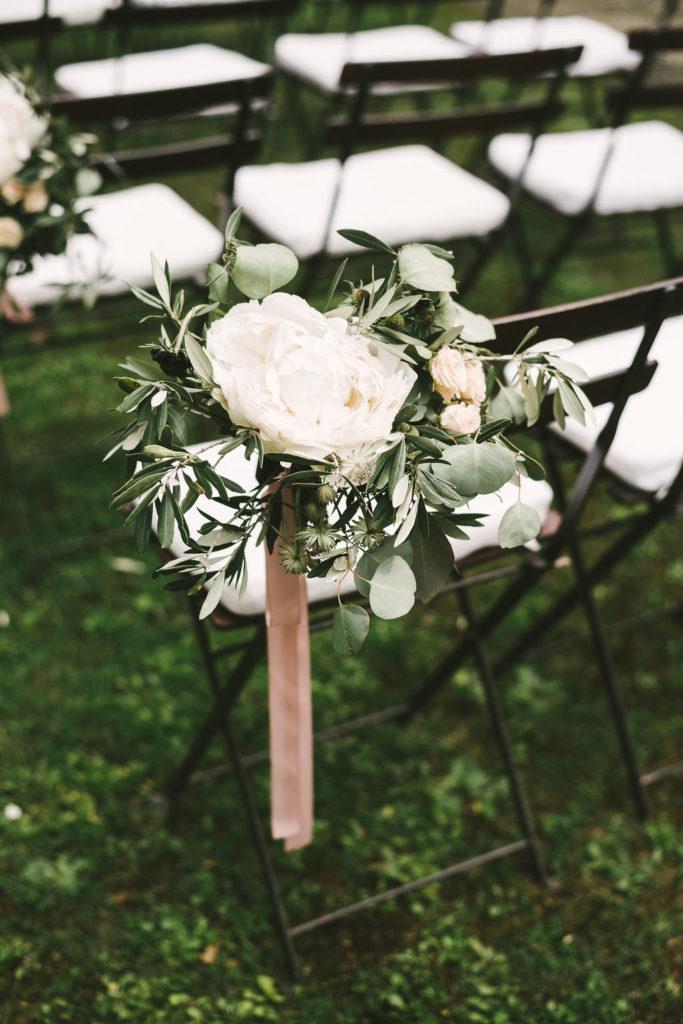 Chairs bouquet Manolo Blahnik shoes - Wedding at Villa La Selva - Italian Wedding Designer