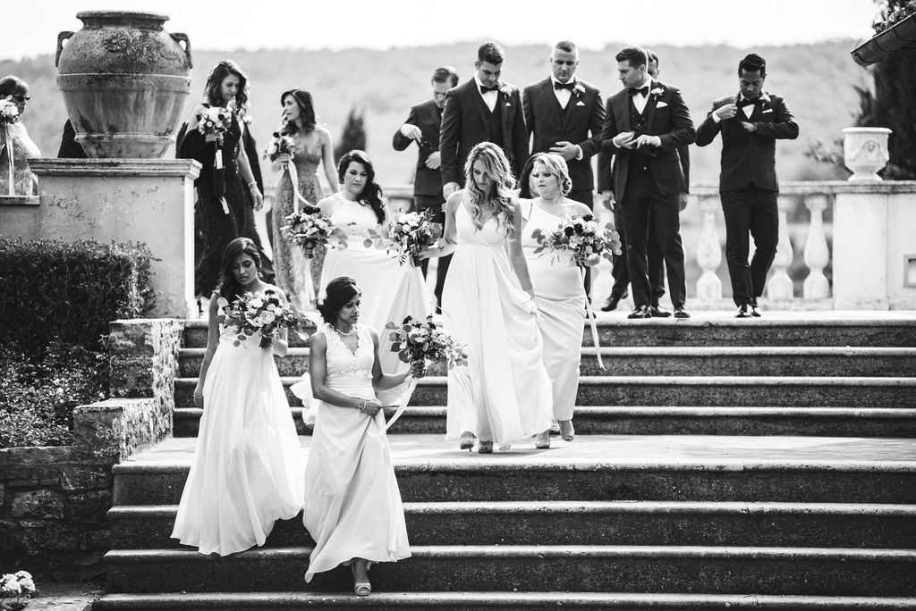 Bridesmaids - Wedding at Villa La Selva - Italian Wedding Designer