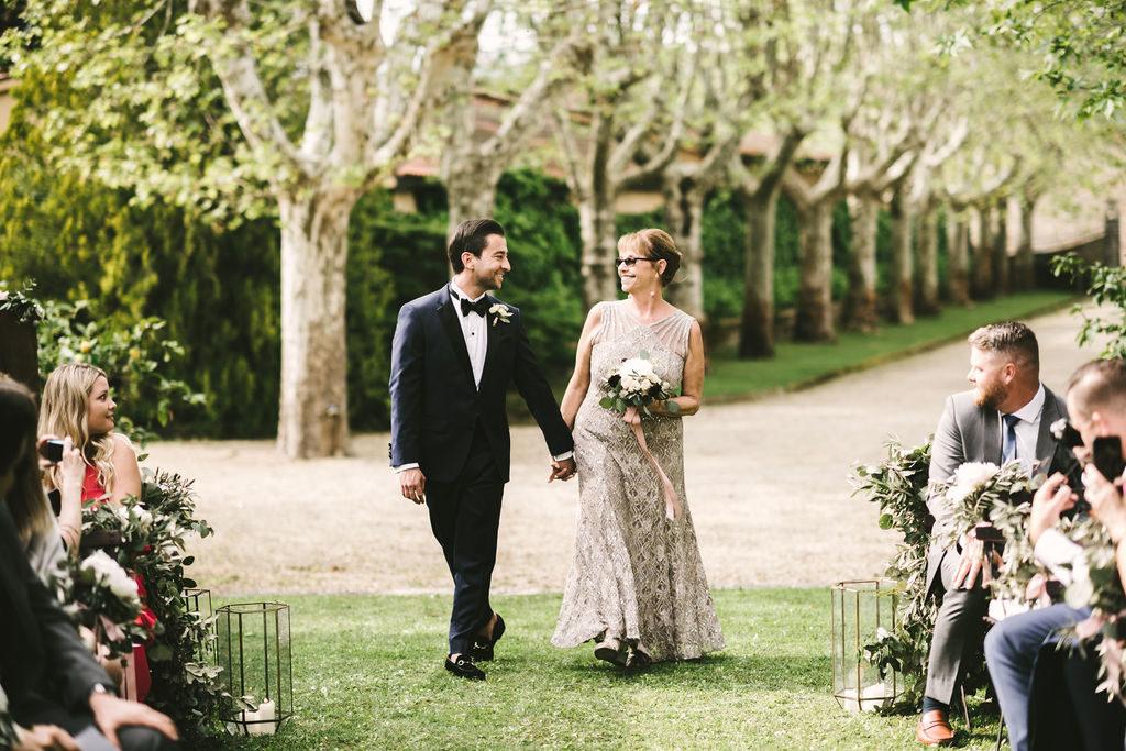 Groom Ceremony entrance - Wedding at Villa La Selva - Italian Wedding Designer