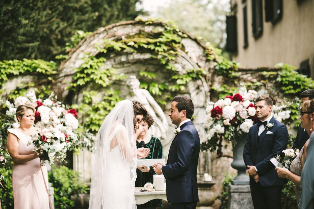 Civil Ceremony in Villa - Wedding at Villa La Selva - Italian Wedding Designer