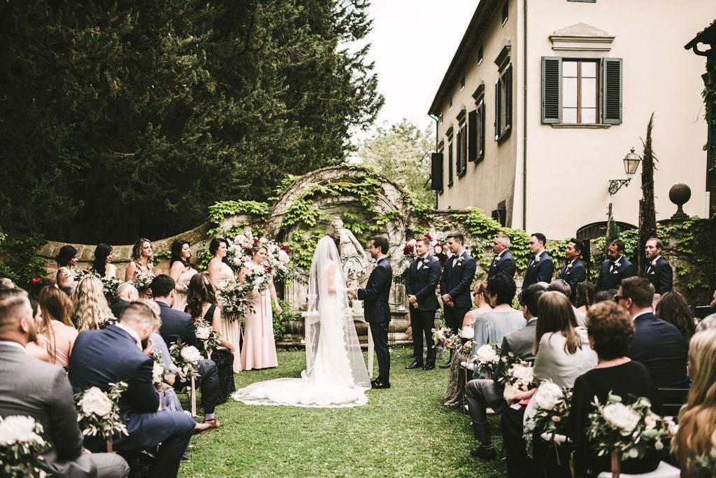 Ceremony setting - Wedding at Villa La Selva - Italian Wedding Designer