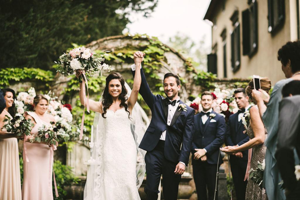 Bride & Groom exit - Wedding at Villa La Selva - Italian Wedding Designer