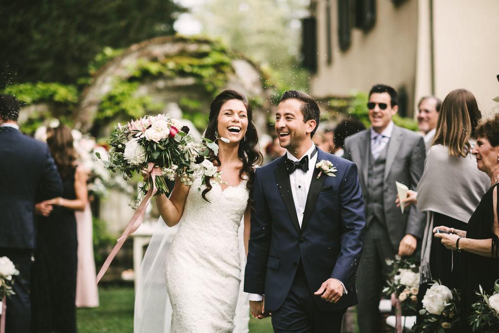 Bridal recessional - Wedding at Villa La Selva - Italian Wedding Designer