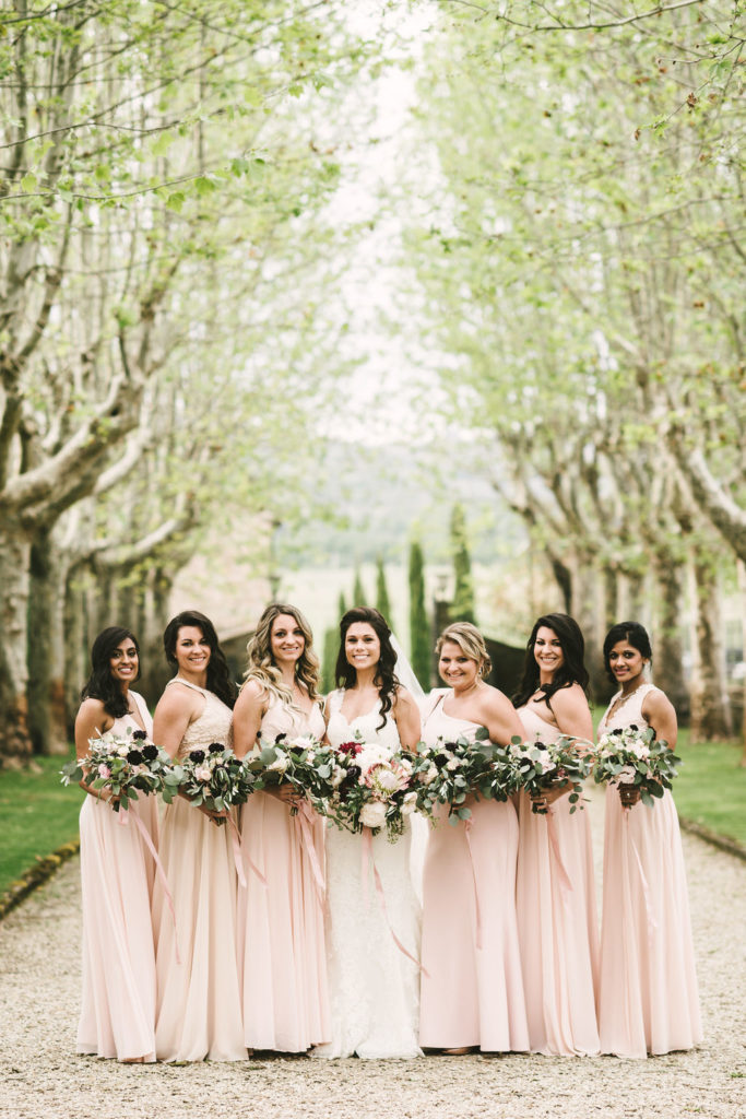 Bridal Party - Wedding at Villa La Selva - Italian Wedding Designer