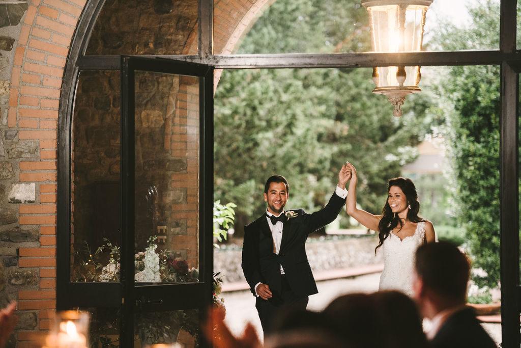 Bride & Groom Entrance - Wedding at Villa La Selva - Italian Wedding Designer