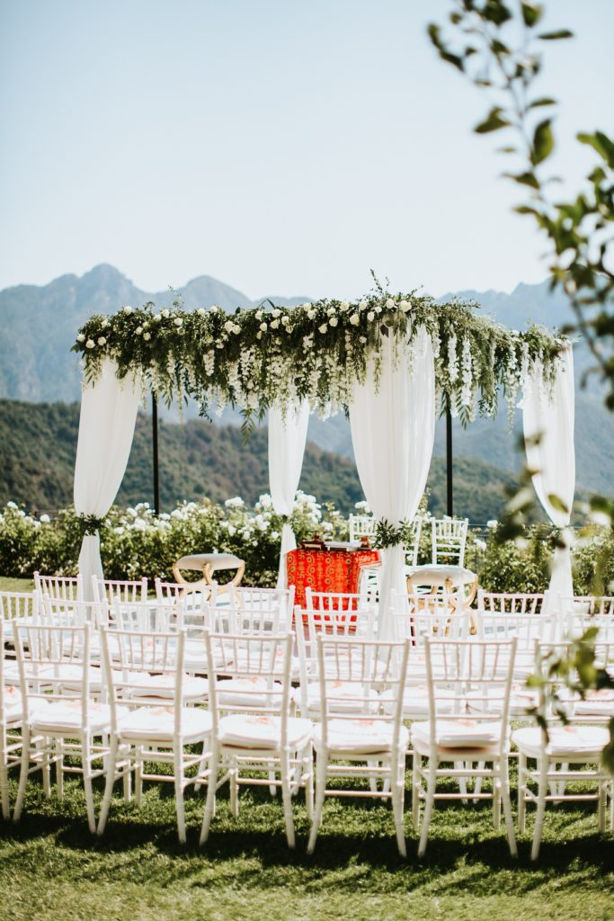Mandap - Hindu wedding at Hotel Caruso in Ravello - Italian Wedding Designer