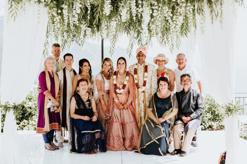 Family portrait - Hindu wedding in Hotel Caruso in Ravello - Italian Wedding Designer