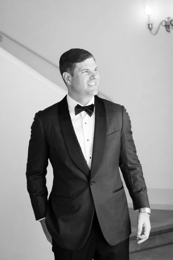 Black and White Groom portrait - Destination Wedding in Ravello - Italian Wedding Designer