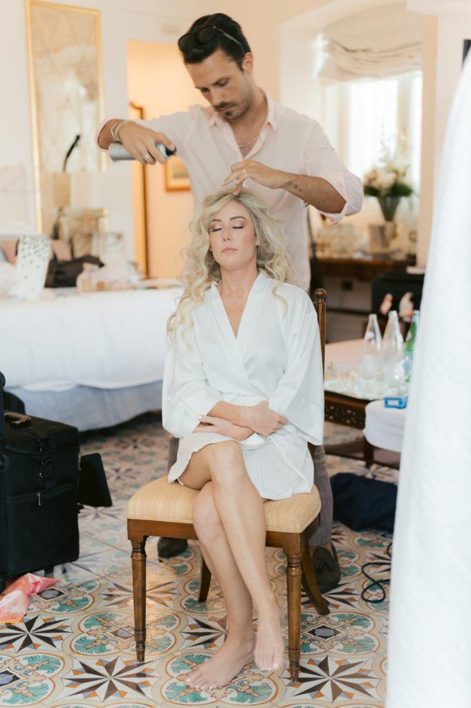 Alessandro Mancino hairdresser - Destination Wedding in Ravello - Italian Wedding Designer