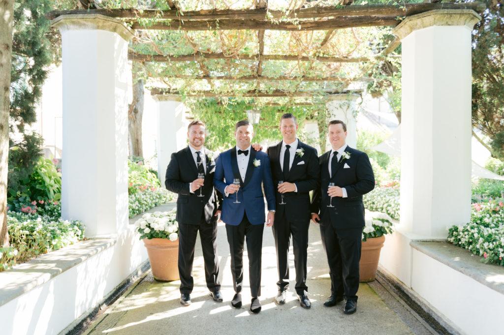 Groom and groomsmen - Destination Wedding in Ravello - Italian Wedding Designer