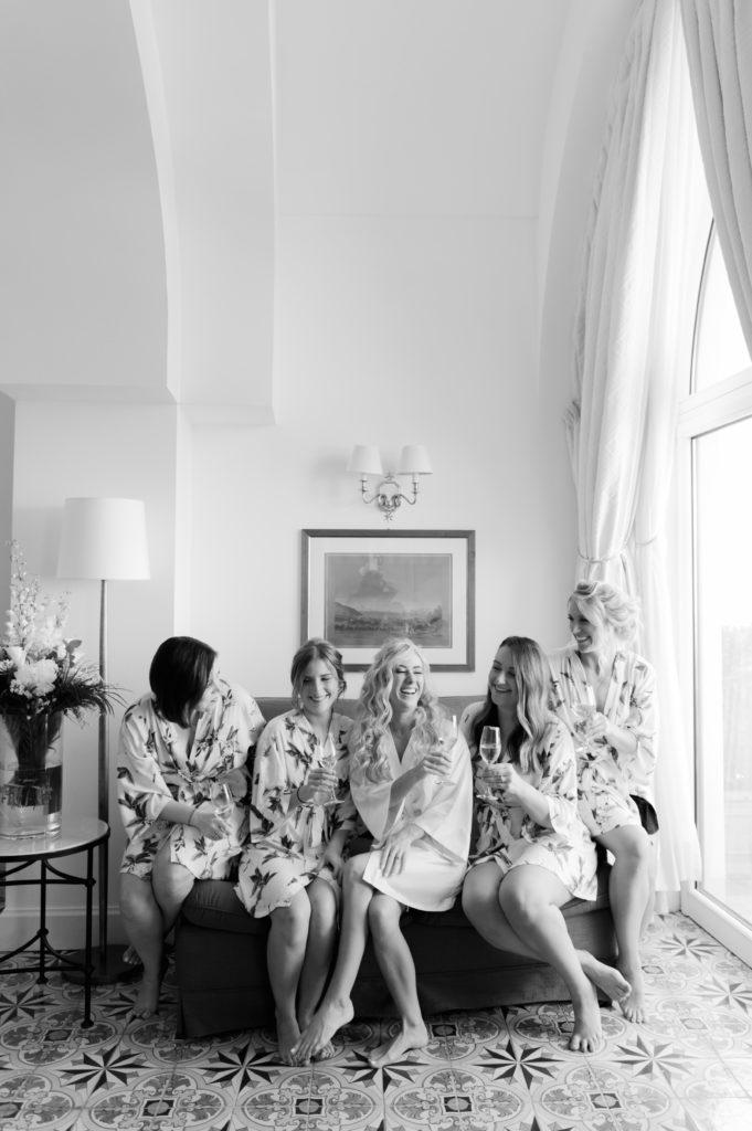 Bride and Bridesmaids getting ready - Destination Wedding in Ravello - Italian Wedding Designer