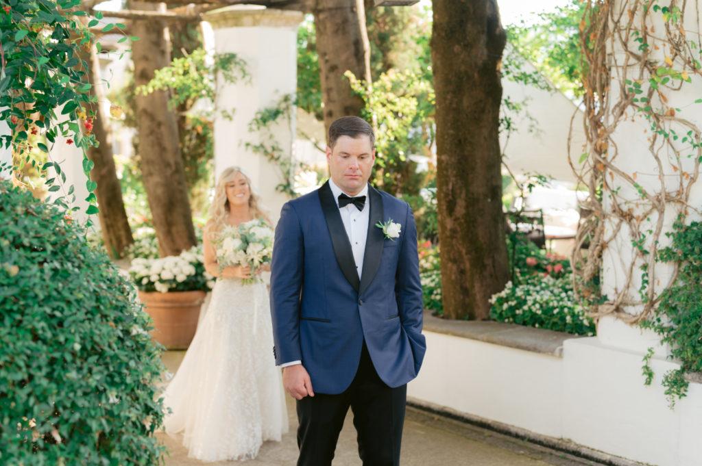 First Look - Destination Wedding in Ravello - Italian Wedding Designer