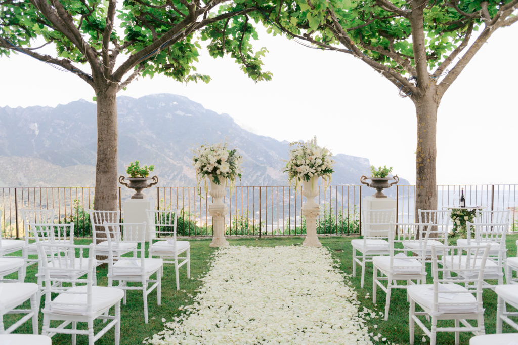 Ceremony at Villa Eva - Destination Wedding in Ravello - Italian Wedding Designer