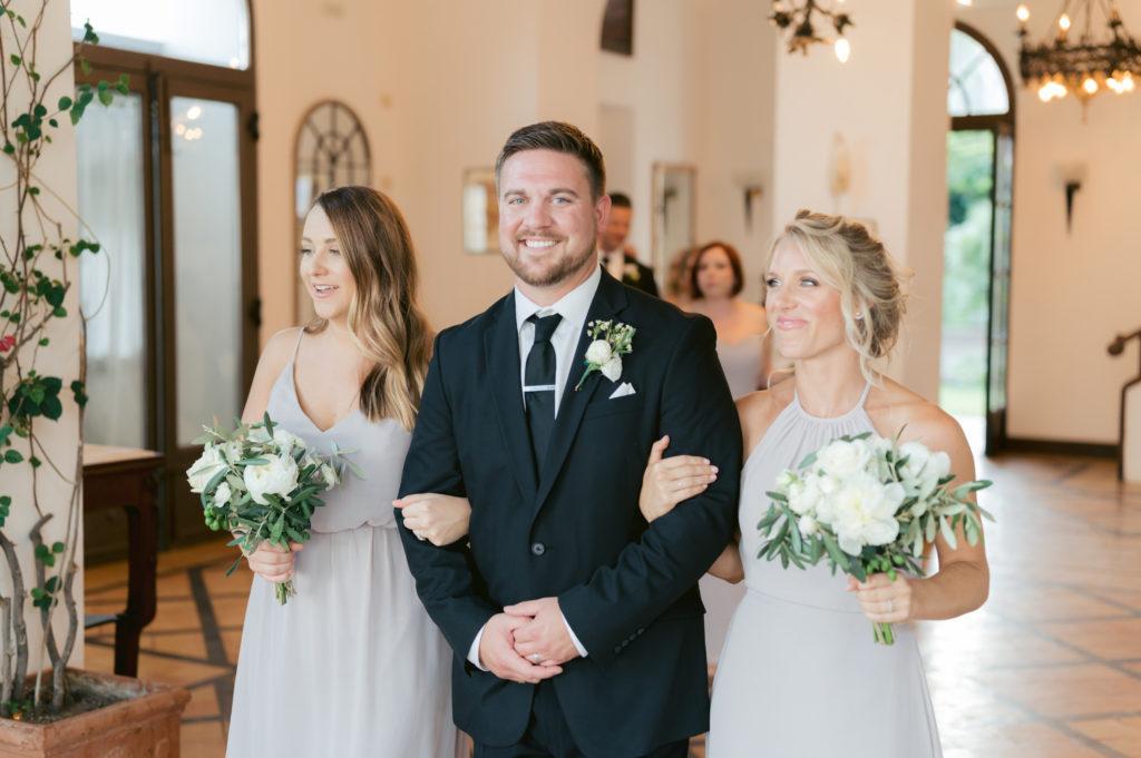 Bridersmaids and best man entrance - Destination Wedding in Ravello - Italian Wedding Designer