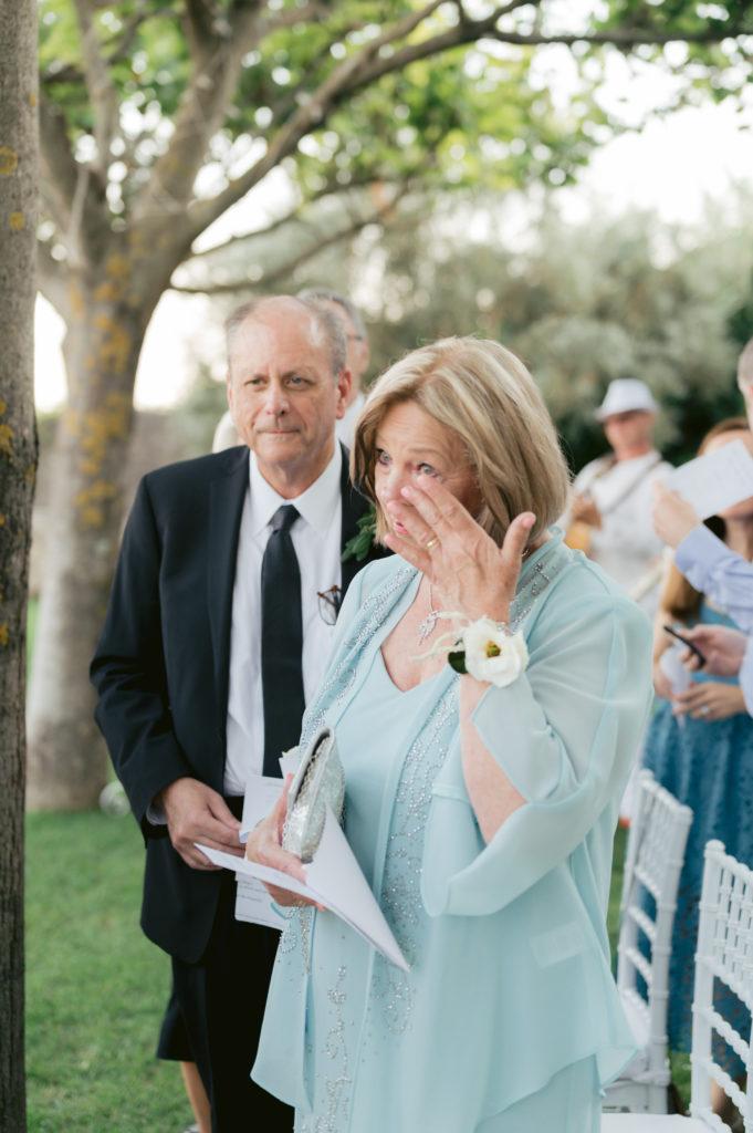 Parents during ceremony - Destination Wedding in Ravello - Italian Wedding Designer