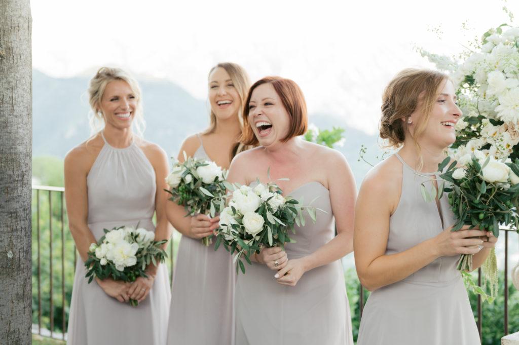 Bridesmaids during ceremony - Destination Wedding in Ravello - Italian Wedding Designer
