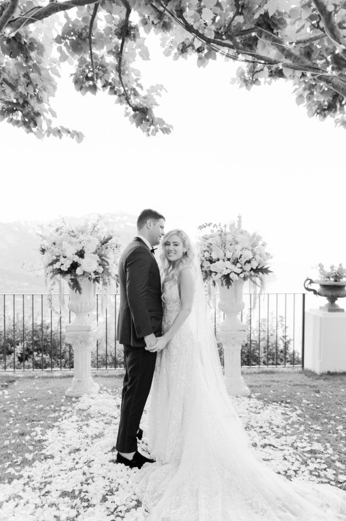 Bride and Groom at Villa Eva - Destination Wedding in Ravello - Italian Wedding Designer