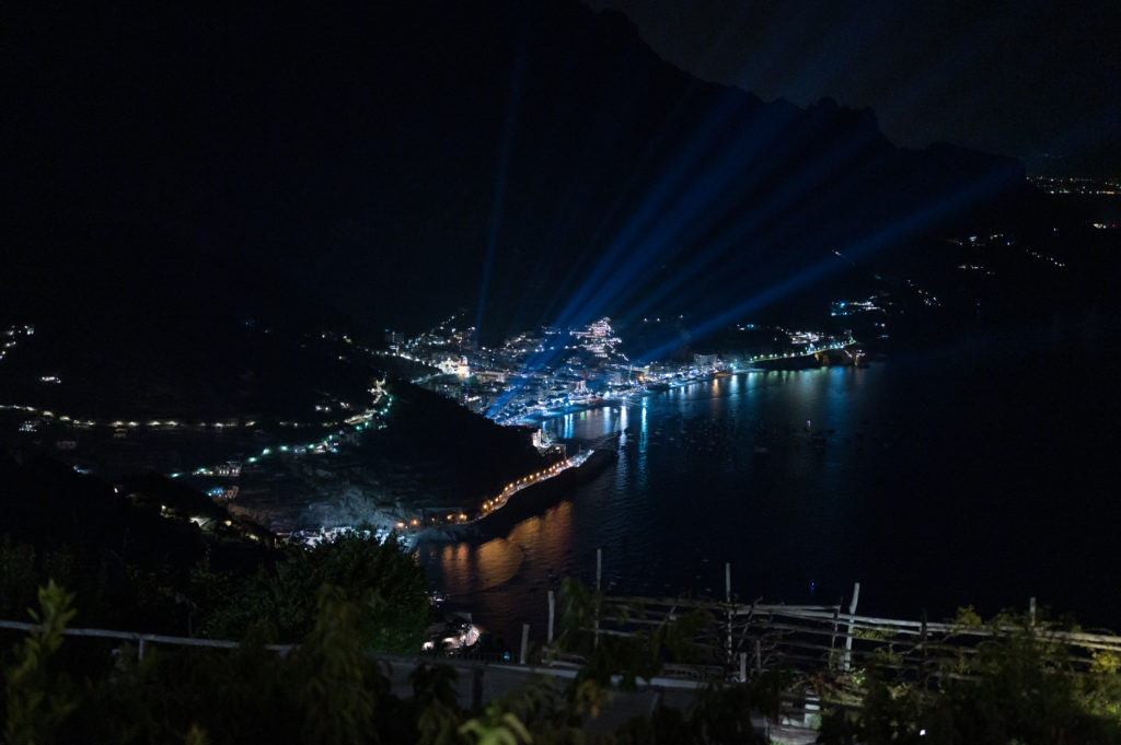 Night Panorama from Villa Eva - Destination Wedding in Ravello - Italian Wedding Designer