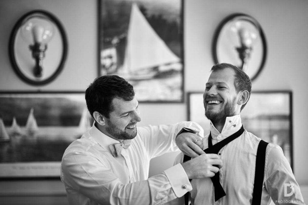 Groom and best man - Wedding at Villa Balbianello - Italian Wedding Designer