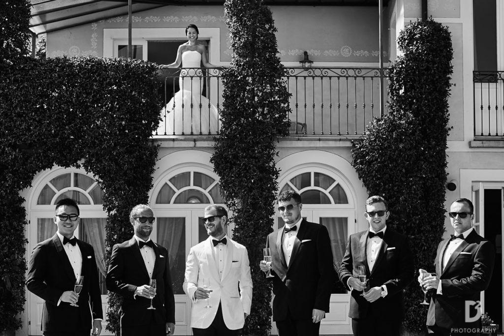 Groom and his best mena - Wedding at Villa Balbianello - Italian Wedding Designer