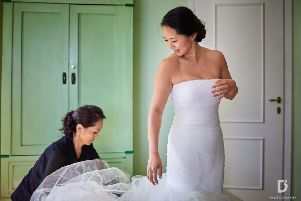 Vera Wong bridal dress - Wedding at Villa Balbianello - Italian Wedding Designer