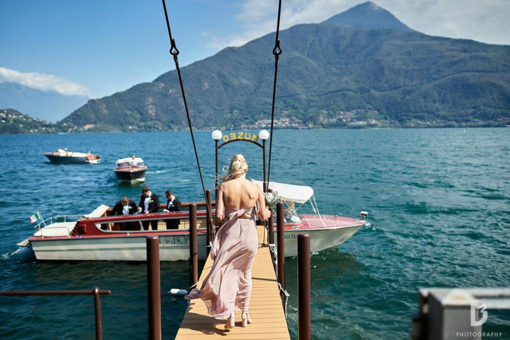 Bridesmaids on the boat - Wedding at Villa Balbianello - Italian Wedding Designer