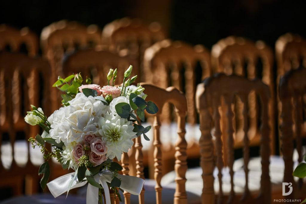 Chairs bouquet - Wedding at Villa Balbianello - Italian Wedding Designer