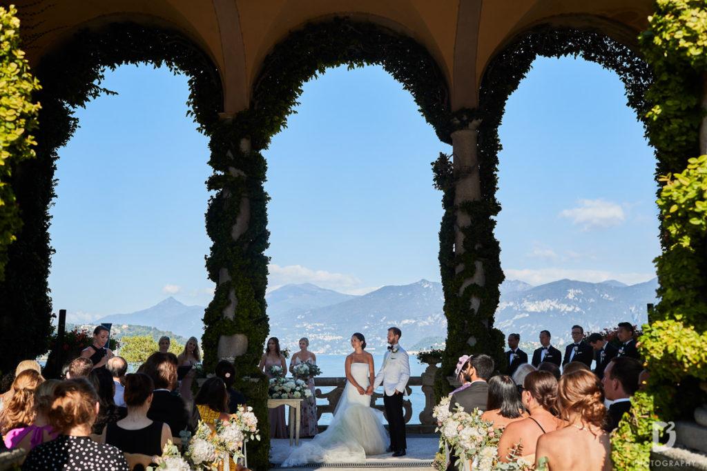 Loggia Durini Ceremony - Wedding at Villa Balbianello - Italian Wedding Designer