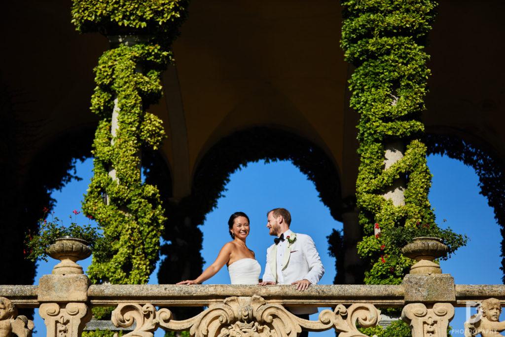 Bride and Groom portrait - Wedding at Villa Balbianello - Italian Wedding Designer