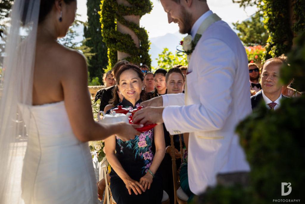 Tea Ceremony - Wedding at Villa Balbianello - Italian Wedding Designer