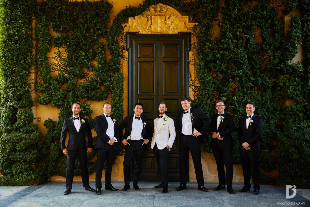 Groom and Best men - Wedding at Villa Balbianello - Italian Wedding Designer