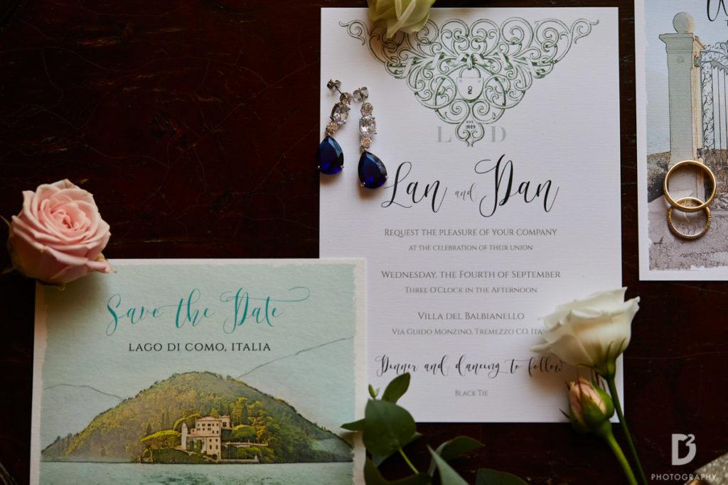 Wedding stationary - Wedding at Villa Balbianello - Italian Wedding Designer