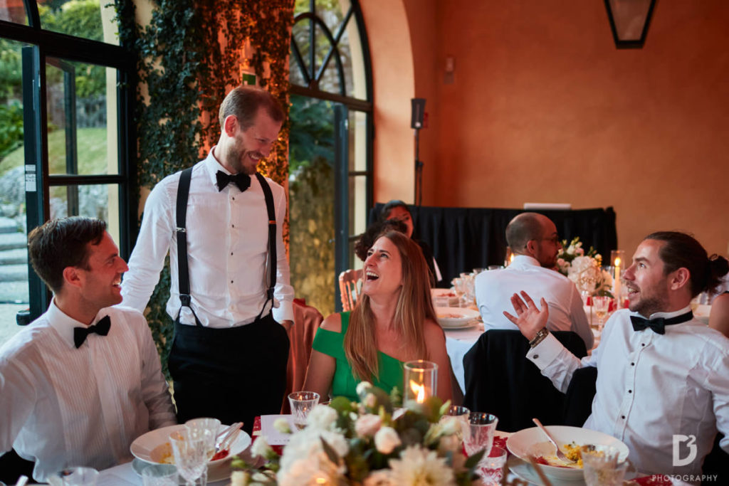 Dinner in Loggia Segre - Wedding at Villa Balbianello - Italian Wedding Designer
