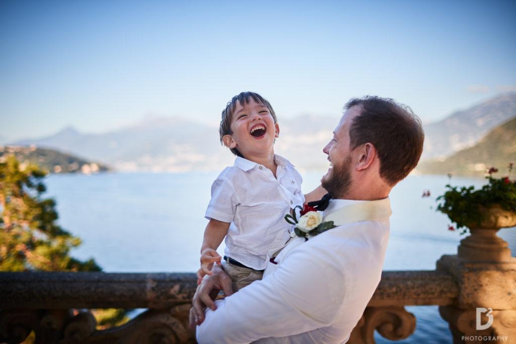 Groom and Page boy - Wedding at Villa Balbianello - Italian Wedding Designer
