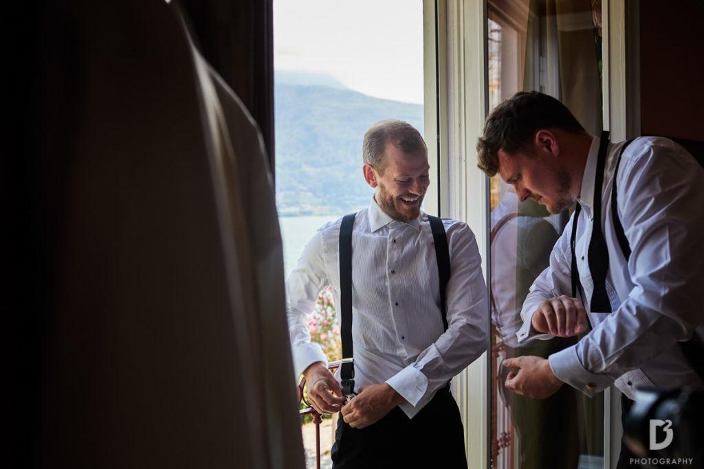 Groom and best friend - Wedding at Villa Balbianello - Italian Wedding Designer