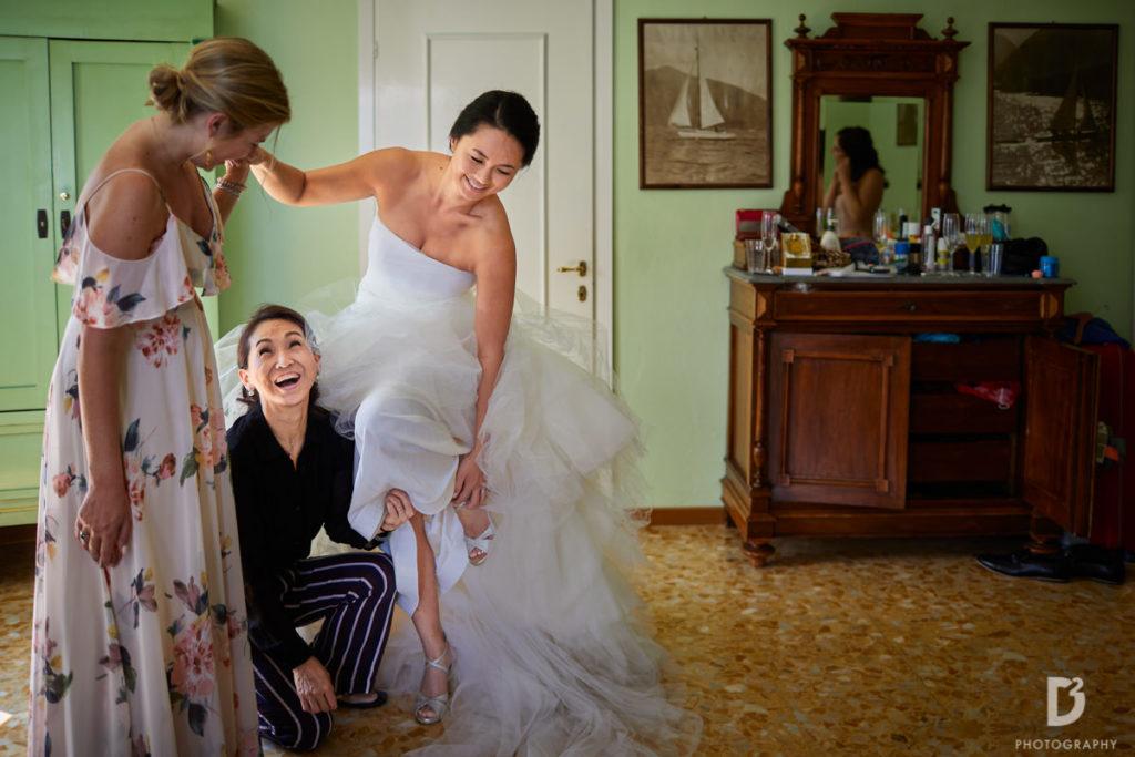 Vera Wong Bridal gown - Wedding at Villa Balbianello - Italian Wedding Designer