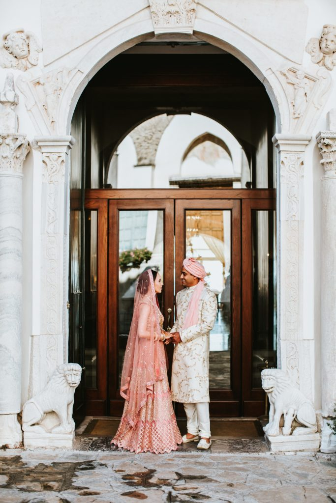 Indian couple in Ravello - Hindu wedding at Hotel Caruso in Ravello - Italian Wedding Designer