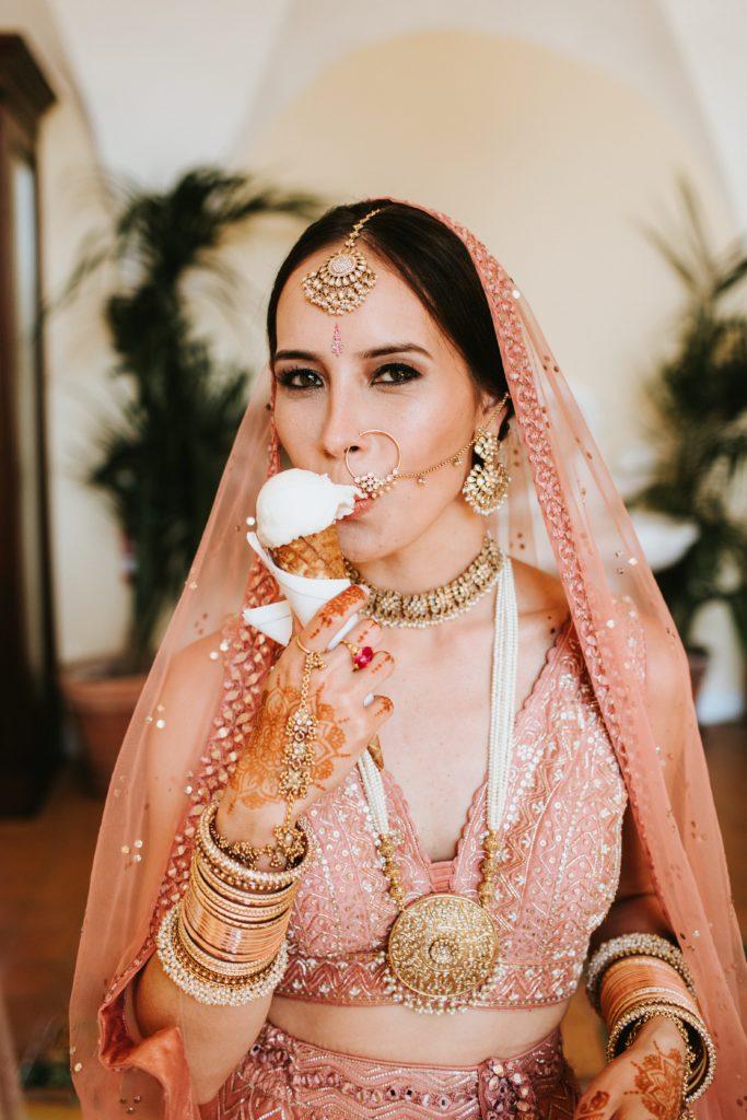 Italian Gelato - Hindu wedding at Hotel Caruso in Ravello - Italian Wedding Designer
