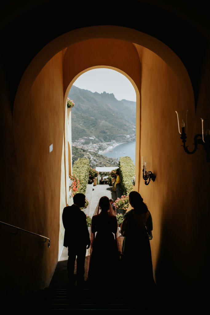 Panorama from Hotel Caruso - Hindu wedding at Hotel Caruso in Ravello - Italian Wedding Designer