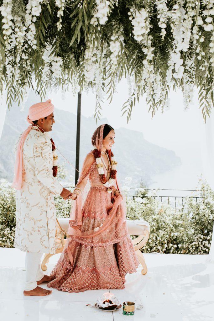 Indian Newlyweds - Hindu wedding at Hotel Caruso in Ravello - Italian Wedding Designer